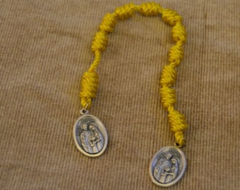 Holy Family Yellow Single Rope Chaplet