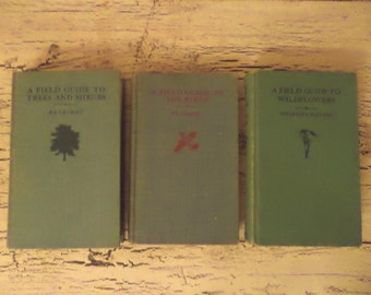 Trio of Vintage Field Guides: Bids, Wildflowers, Trees and Shrubs