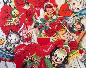 Vintage 1950s Valentines - Unused - Lot of 13