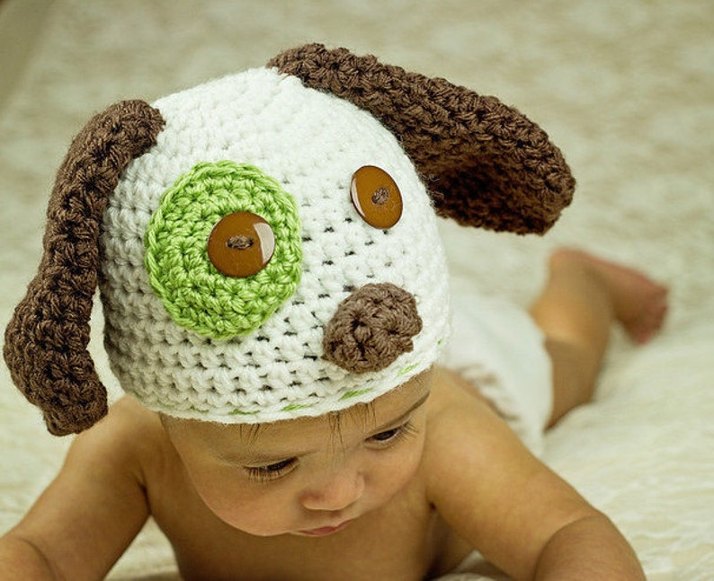 fits newborn to adult Puppy HatDog HatAnimal Hat for boy or girl