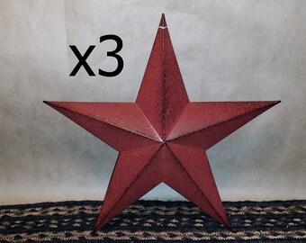 "Star Star 3D Primitive 5-1//2/"" Crafting 12 Rusty 5.5/"" Metal Barn Stars"