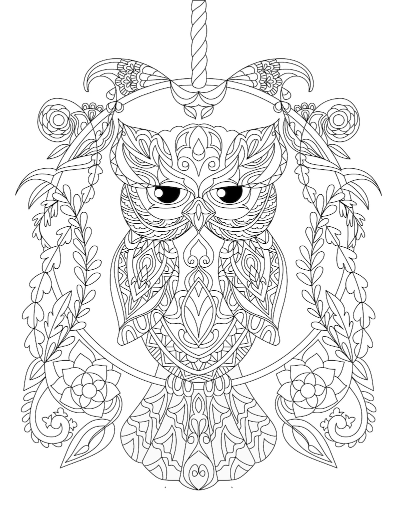 Regal Owl Coloring page|Owl coloring page|coloring page|owl coloring|owl  page|owl|owls|coloring|adult coloring page
