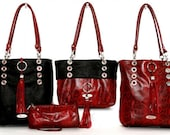 Snake Lamb Leather Double-Sided Reversible Convertible Luxury Bag with Removable Pouch