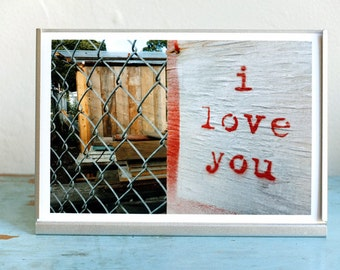 Love Photo Print, Valentines Gift, Gift for Her, Love You Photo, Anniversary Gift, Long Distance Gift, Relationship Gift, Romantic Gift