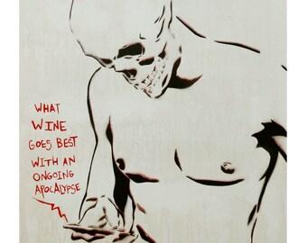 Apocalypse Painting, skull art, skeleton painting