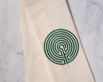 GREEN and CREAM Labyrinth Belt Favor for roleplaying, larp, or ritual