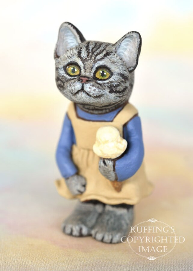 Miniature Kitty Cat Kitten Art Doll OOAK
