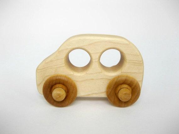 Jouet en bois famille voiture, petit jouet en bois
