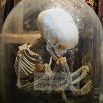 Halloween Decor Child Skeleton with Middle Finger, Macabre Oddity Photography Print, 7x7 on 8.5 x 11 inch Paper, Creepy Artwork