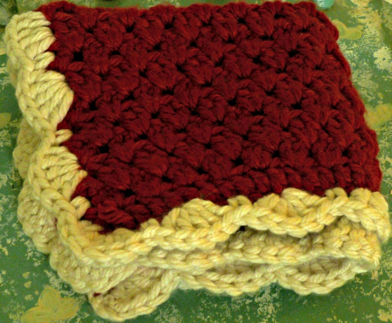 Crocheted Dog or Cat Red Snuggle Blanket