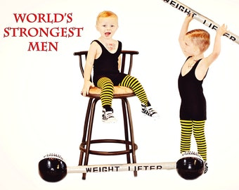 Strongman Costume Solid Color for Toddlers and Little Children