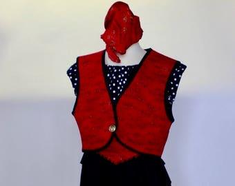 Girls Pirate Costume Sample Sale six piece set size 8/10