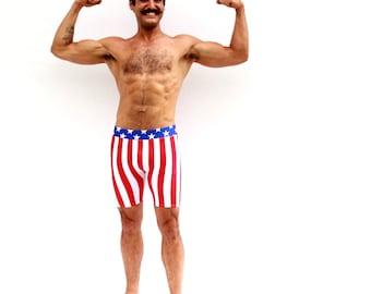 Mens Uncle Sam Stretch Shorts