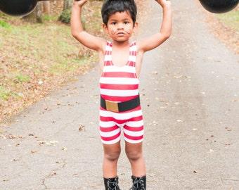 Strongman Costume for Little Children Toddler with Belt