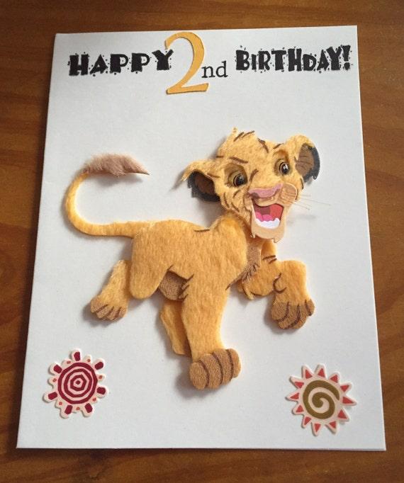 Simba Lion King 2nd Birthday Card
