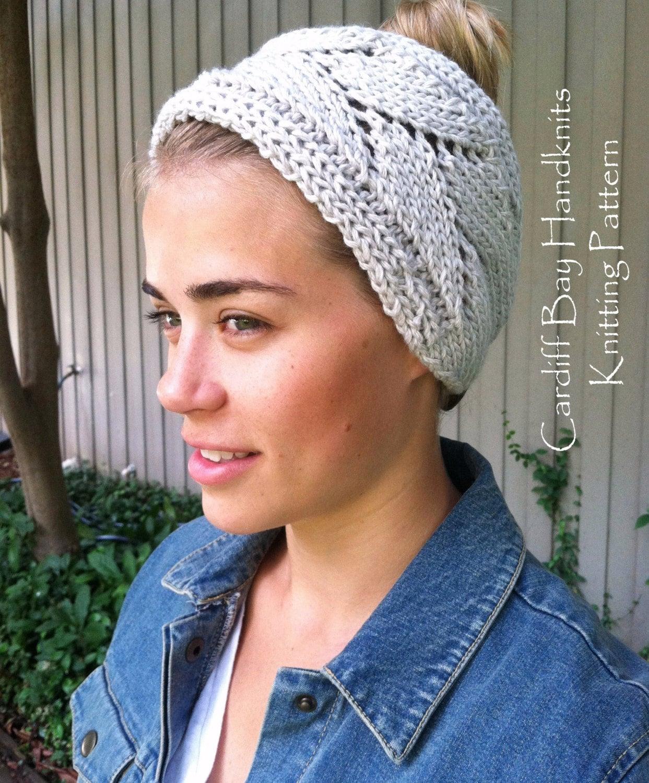 KNITTING PATTERN,Knit Head Wrap,Chunky knit,Knit Ear Warmer,Headband ...
