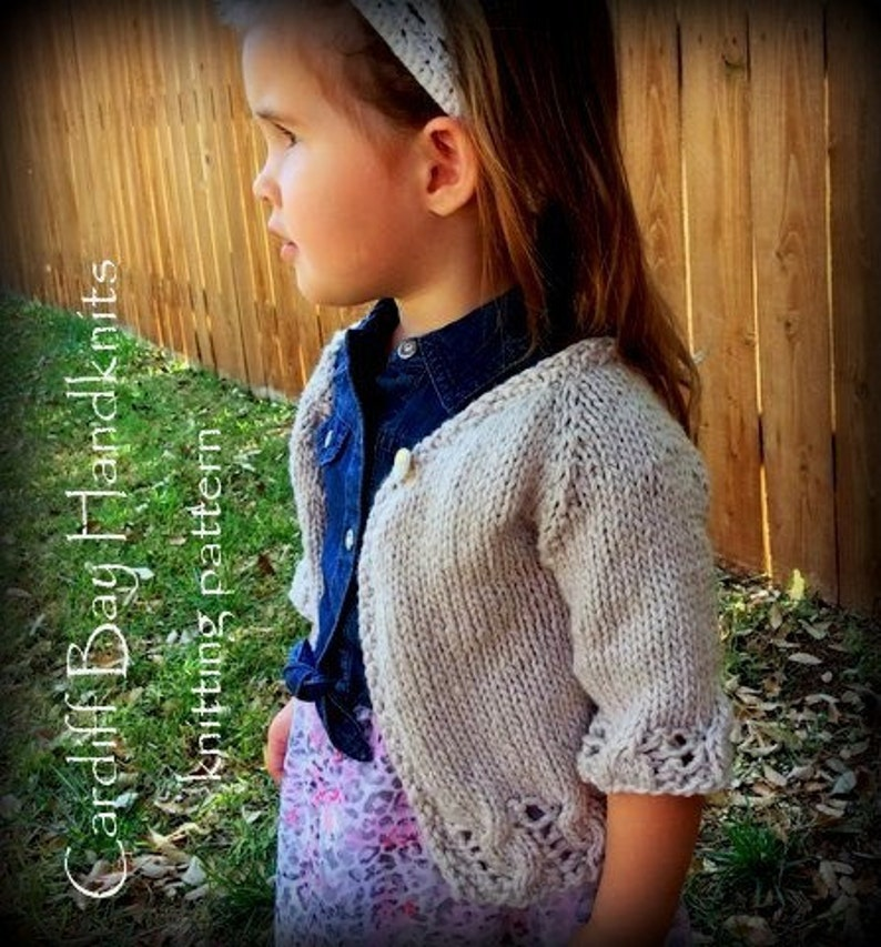 b28d38153 Girls knit cardigan patterncable cardigantop downgirls