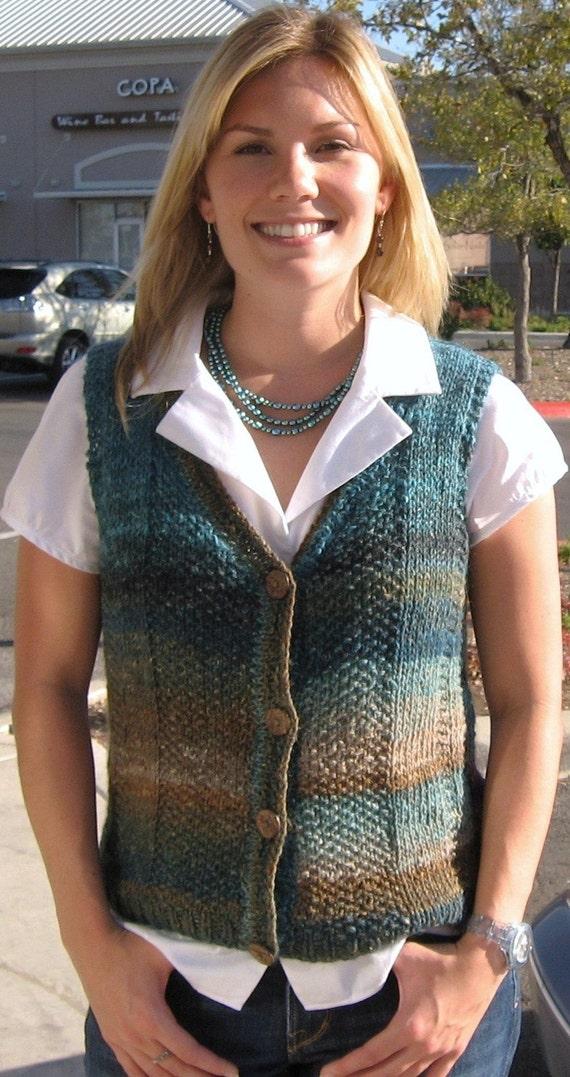 Knitting Pattern,India,knit vest,women,Noro Silk Garden,wool,knit ...