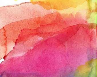Abstract Art Print, Watercolor Painting, Bliss