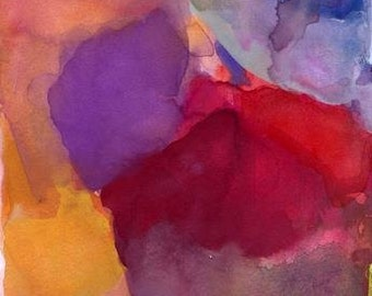 Large Art Print, Abstract Watercolor, 16 x 20, Calm