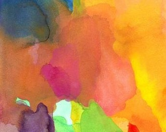 Art Print, Watercolor Painting, 16 x 20 large, Dancing Together