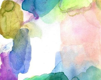 Large Wall Art, Watercolor Painting, Clarity