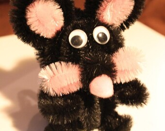 Chenille Mouse - Black