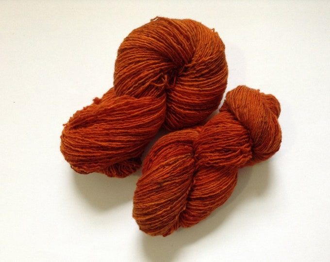 Hand Dyed Yarn Tiger Lily Wool 1 Ply