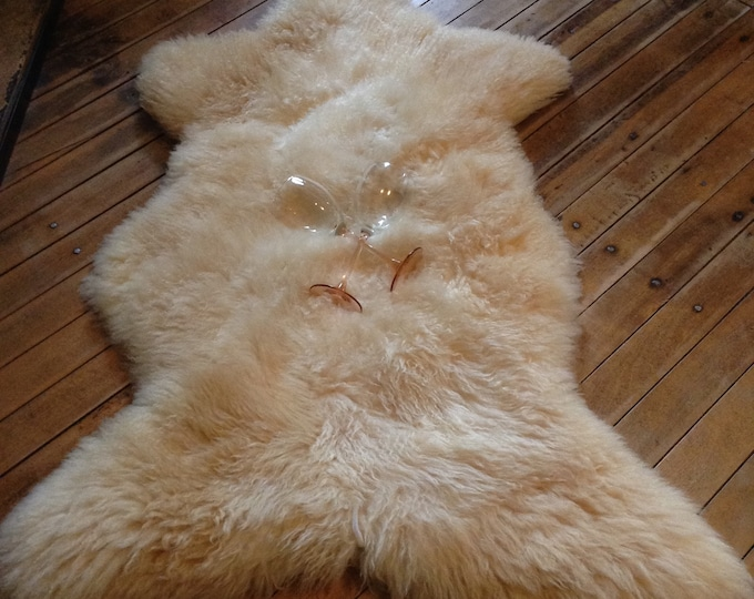 Teddy Bear Long Wool Sheepskin Rug