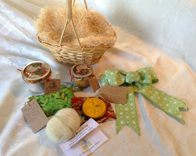 Pumpkin Spice & Orange Soap Gift Basket