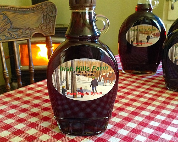 3 Jars 1/2 Pint Pure Smokey Maple Syrup / Organic Maple Syrup