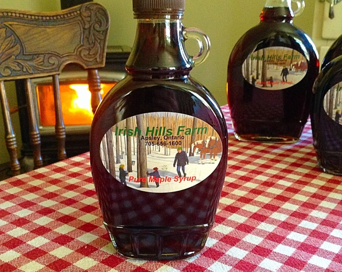 2 Jars 1/2 Pint Pure Smokey Maple Syrup / Organic Maple Syrup