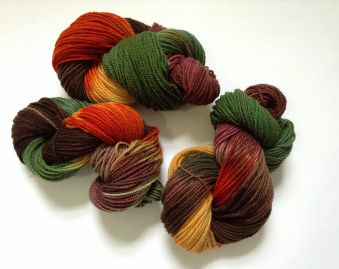 Hand Dyed Yarn Oak Tree Wool 2 Ply