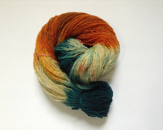 Hand Dyed Yarn Tiger Lily Varigated 1 Ply