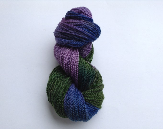 Hand Dyed Yarn Morning Glory Wool 2 Ply