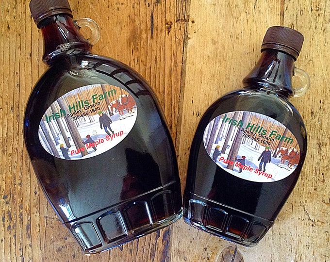 2 Large Jars Pure Smokey Maple Syrup / Organic Maple Syrup