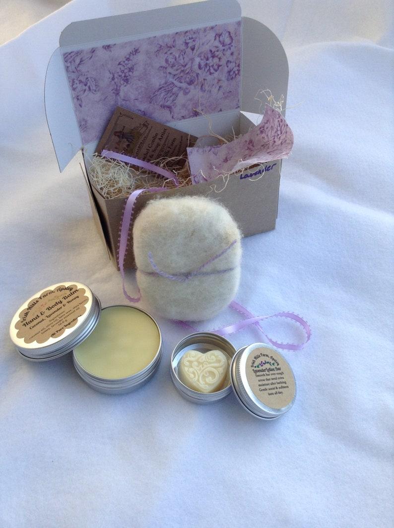 Lavender Felted Soap Gift Set image 0