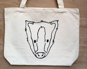 Screen Printed Organic Cotton Tote Bag