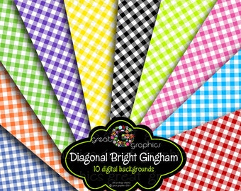 Gingham Paper Gingham Digital Paper Printable Party Paper Invitation Paper Background Paper Instant Download
