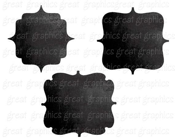 Chalkboard Frame Digital Chalkboard Frames Chalkboard Clipart | Etsy
