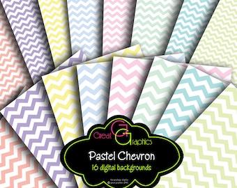 Pastel Chevron Digital Paper Chevron Printable Chevron Background Paper Baby Shower Paper Instant Download