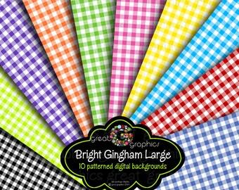 Gingham Party Paper, Gingham Paper, Gingham Digital Paper, Background Paper, Digital Paper, Instant Download