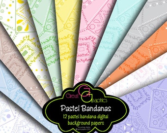 Bandana Digital Paper Pink Bandana Paper Bandana Print Paper Party Paper Printable Paper - Instant Download