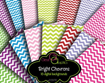 Chevron Digital Paper Chevron Background Digital Paper Chevron Print Digital Chevron Printable Chevron Instant Download