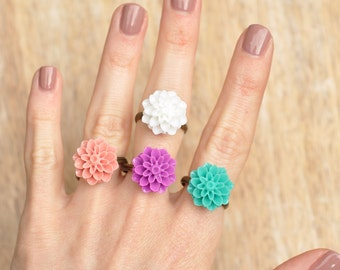 Cerys Vintage Chrysanthemum Antique Bronze Ring