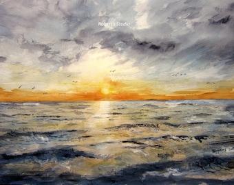 ocean painting etsy