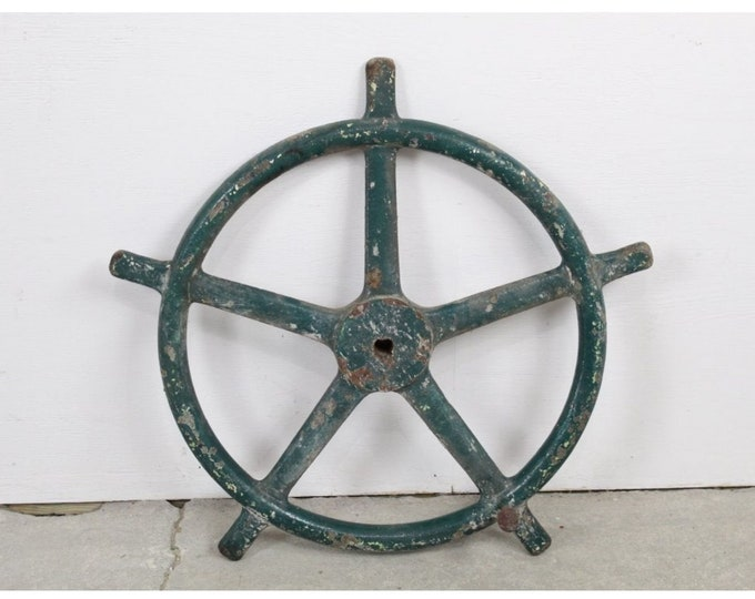 Cast Iron Industrial Ship's Wheel Found By Hudson River - #184205