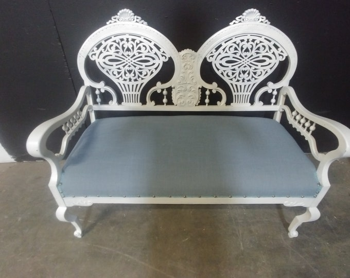 1880'S CARVED SETTEE # 183230A