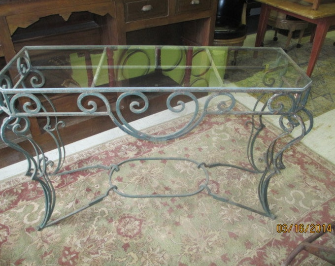 French Cast Iron And Glass Console # 1825161
