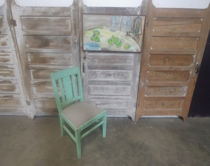 Mid 1800's Old Green Paint Chair # 184236